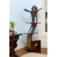 "<strong>The Refined Feline</strong> 69"" The Lotus Cat Tree in Espresso"