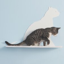 "23"" Cat Silhouette Gaze Cat Shelf"