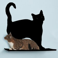 "<strong>The Refined Feline</strong> 23"" Cat Silhouette Cat Shelf (Set of 3)"