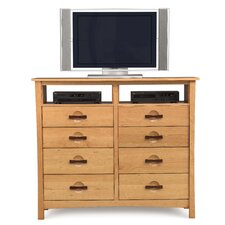 <strong>Copeland Furniture</strong> Berkeley 8 Drawer Chest with Media Organizer