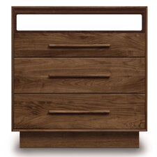 Moduluxe 3 Drawer Dresser with Media Organizer