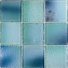 "<strong>Casa Italia</strong> Fashion 4"" x 4"" Glass Mosaic in Mix Fashion Azzurro"