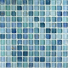 "<strong>Casa Italia</strong> Fashion 11.75"" x 11.75"" Glass Mosaic in Mix Fashion Azzurro"