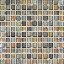 "<strong>Casa Italia</strong> Fashion 11.75"" x 11.75"" Glass Mosaic in Mix Fashion Beige"