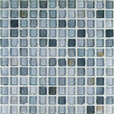 "<strong>Casa Italia</strong> Fashion 11.75"" x 11.75"" Glass Mosaic in Mix Fashion Grigio"