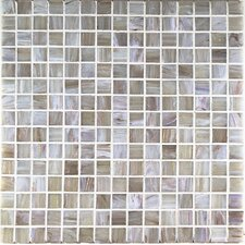 "Bronze/Gold Monocolor 13"" x 13"" Glass Mosaic in Grigio Bronze"