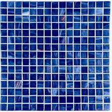 "Bronze/Gold Monocolor 13"" x 13"" Glass Mosaic in Blue Bronze"