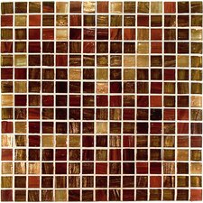 "<strong>Casa Italia</strong> 13"" x 13"" Glass Mosaic in Mix Rosso/Ramato"
