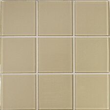 Crystal-A Glass Mosaic in Glossy Beige
