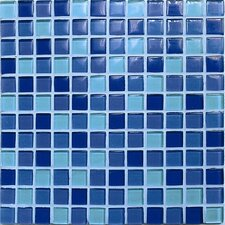 "<strong>Casa Italia</strong> Crystal-A 11.75"" x 11.75"" Glass Mosaic in Mix Sky Gloss"