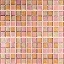 "<strong>Casa Italia</strong> Crystal-A 11.75"" x 11.75"" Glass Mosaic in Trasparenze Rosa"