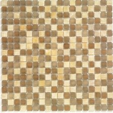 "<strong>Casa Italia</strong> Pure & Natural 11.75"" x 11.75"" Natural Stone and Glass Mosaic in Brown"