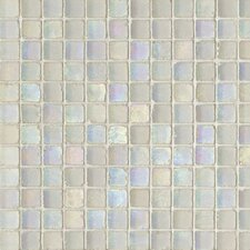 "Metallica Satin 1"" x 1"" Glass Mosaic in Bianco Metallica Satin"