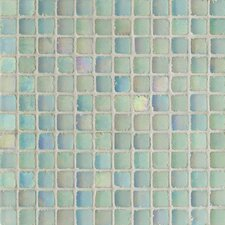 "Metallica Satin 11.75"" x 11.75"" Glass Mosaic in Acquamarina Metallica Satin"