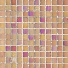 "<strong>Casa Italia</strong> Metallica Satin 11.75"" x 11.75"" Glass Mosaic in Mix Arancio Metallica"