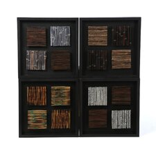 Contemporary Wood Plaques (Set of 4)