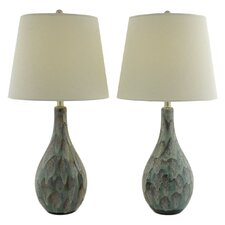 "Zuri 32"" H Table Lamp with Empire Shade (Set of 2)"