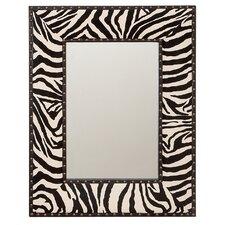 """Zebra 31"""" H x 24"""" W Wall Mirror"""
