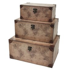 Windsor 3 Piece Rectangular Trunk Set