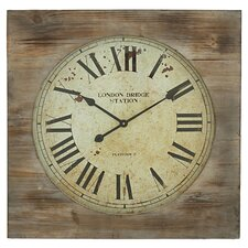 "27"" London Bridge Station Square Wall Clock"