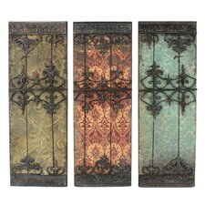 Nadia 3 Piece Metal Plaque Wall Decor Set (Set of 3)