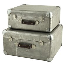 Hagen 2 Piece Suitcase Trunk Set