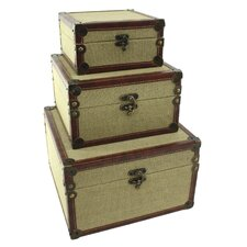 Baldwin 3 Piece Burlap Box Set