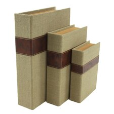 Madeline 3 Piece Faux Book Box Set