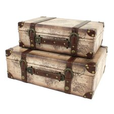 Windsor 2 Piece Suitcase Trunk Set