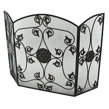Rosalie 3 Panel Metal Fireplace Screen