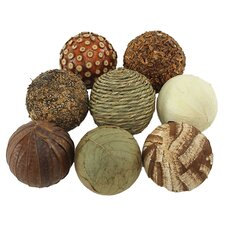 Seabrook 8 Piece Natural Ball Set