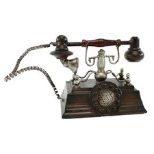 Hughes Metal Telephone Figurine