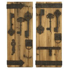 Donovan 2 Piece Rustic Key Wall Decor Set