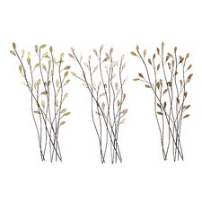 Floral Metal Wall Decor (Set of 3)
