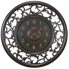 "Oversized 36"" Medieval Wall Clock"