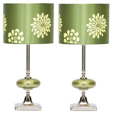 "Wyman 19"" H Table Lamp with Drum Shade (Set of 2)"
