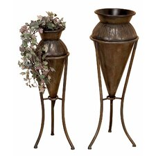 Vase Planter and Stand (Set of 2)