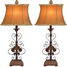 <strong>Aspire</strong> Willa Metal Table Lamp (Set of 2) (Set of 2)