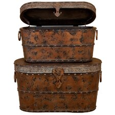 Wood Trunk (Set of 2)