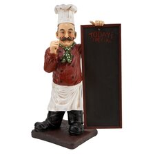 Restaurant Chef Statue with Today's Specials