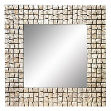 "32"" Capiz Shell Square Wall Mirror"