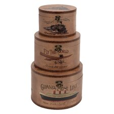 World Traveler Round Box (Set of 3)