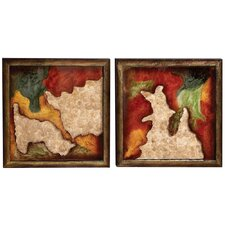 2 Piece Abstract Wall Décor Set