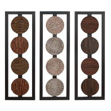 Assorted Contemporaty Wall Panel (Set of 3)