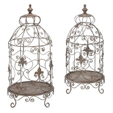 Decorative Metal Terrarium (Set of 2)