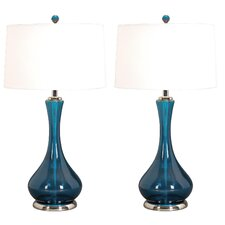 Josie Table Lamp with Drum Shade (Set of 2)