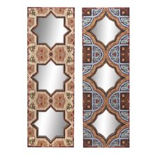 Colorful Wall Plaque with Mirror (Set of 2)