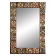 <strong>Aspire</strong> Embossed Metal Frame Wall Mirror