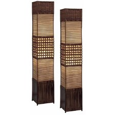 Gretchen Rattan Floor Lamp (Set of 2)