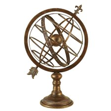Antique Brass Armillary Sphere Sculpture